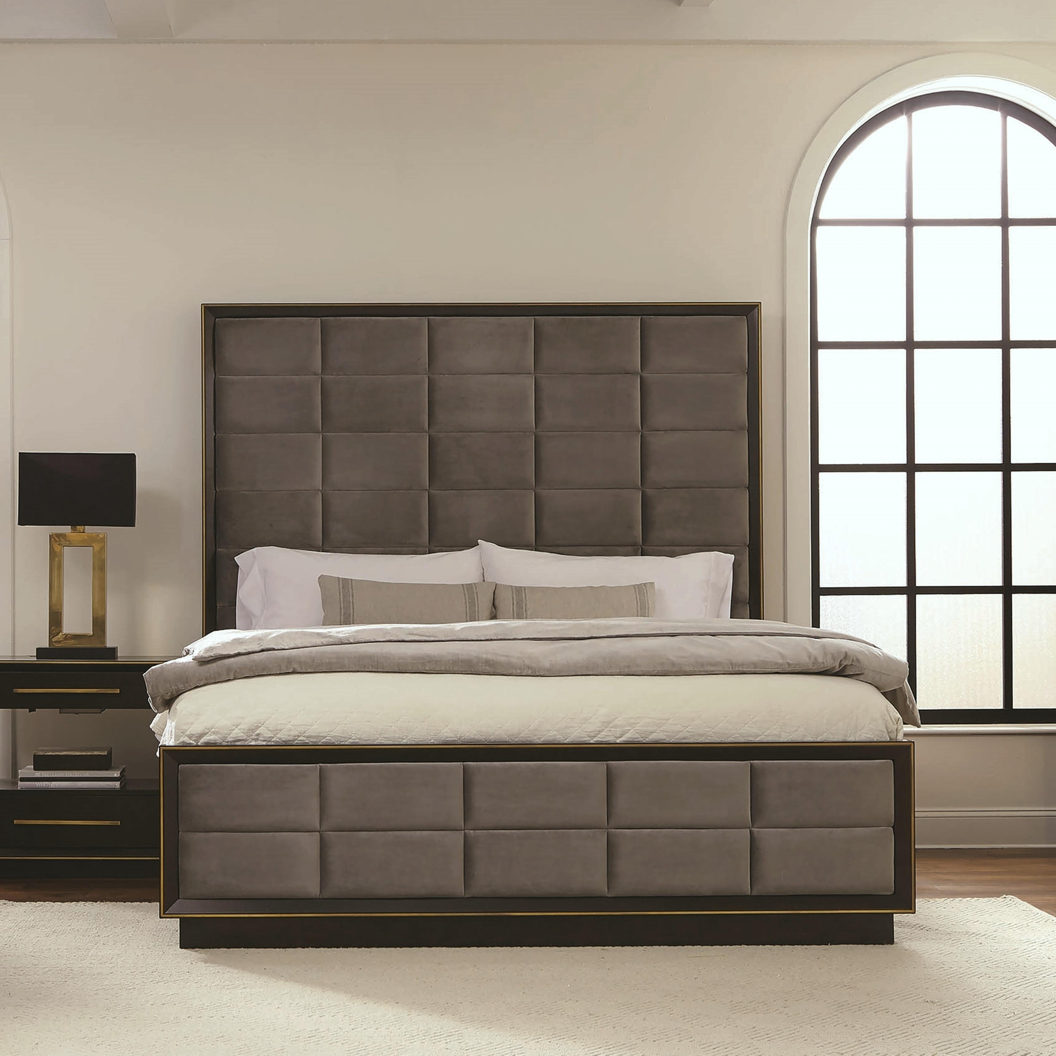 Modern Luxury Design Panel Bed Overstock 28736907