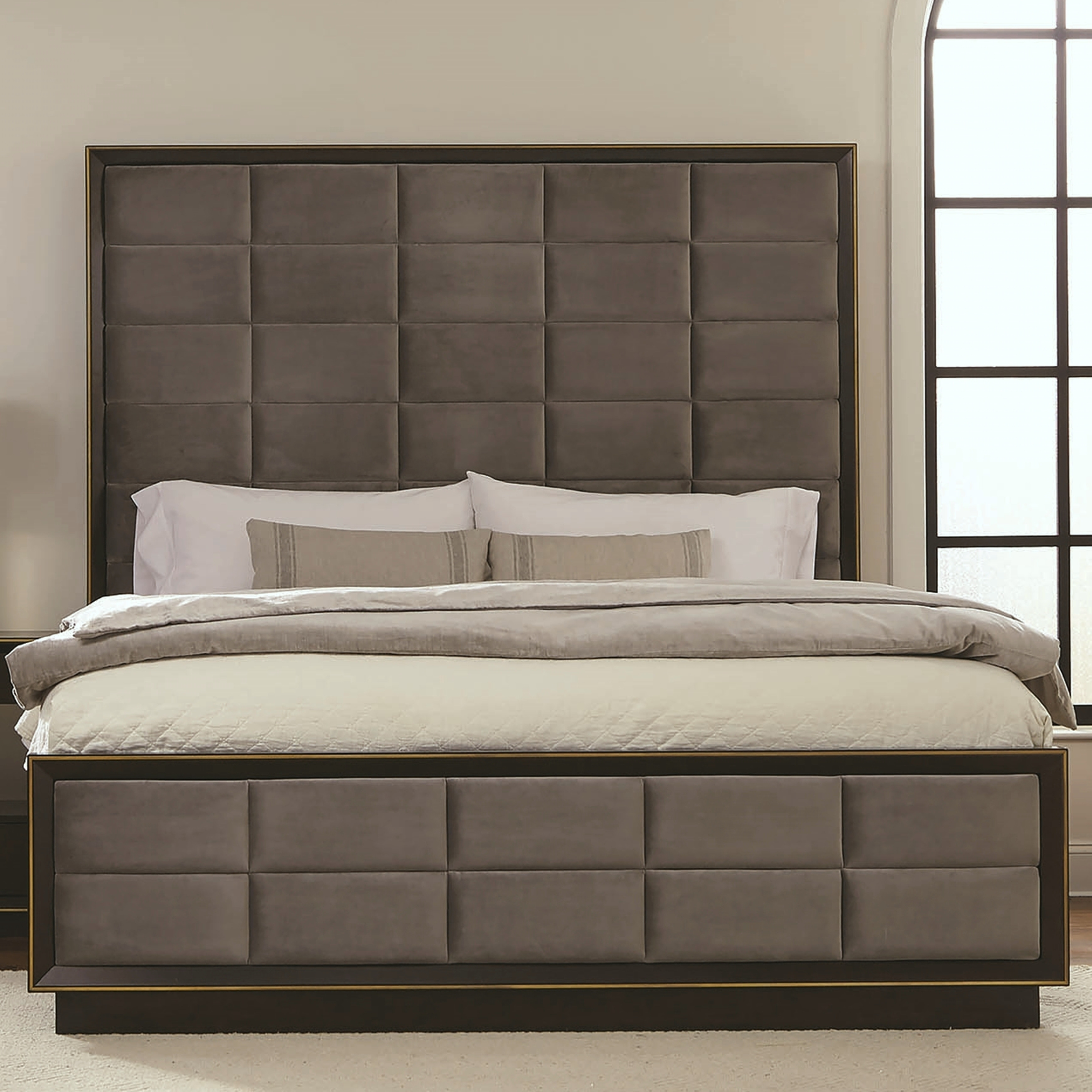 Picture of: Modern Luxury Design Panel Bed Overstock 28736907