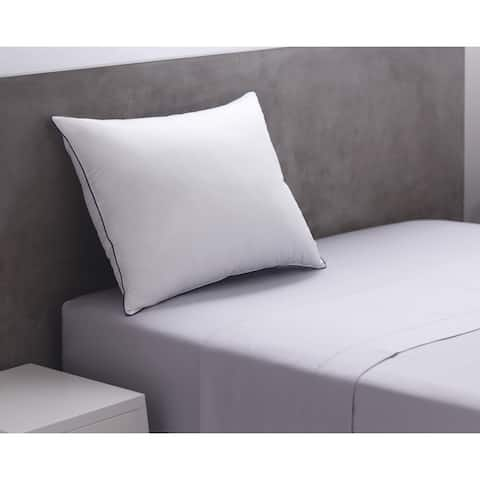 Weatherproof Vintage Soft Touch Microfiber Bed Pillow Set of 2 - N/A