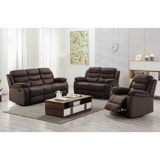 Medved 2 Piece Suede Reclining Living Room Set