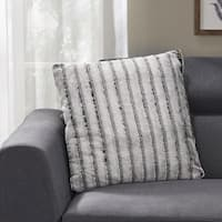 Gansevoort Modern Faux Fur Throw Pillow by Christopher Knight Home