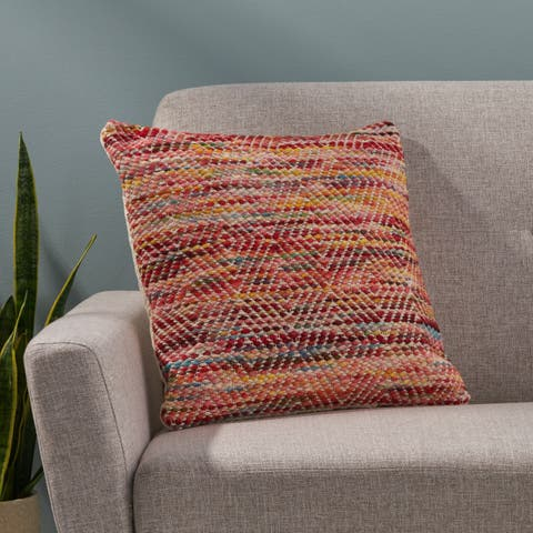 Beaubien Boho Cotton and Wool Throw Pillow by Christopher Knight Home