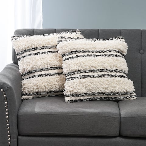 Aldine Boho Cotton Throw Pillow (Set of 2) by Christopher Knight Home