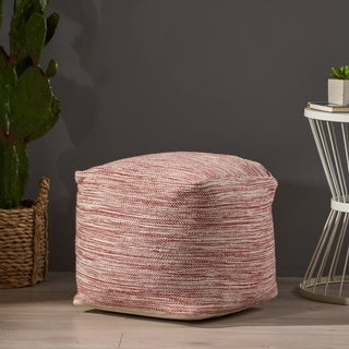 Deja Boho Yarn Pouf by Christopher Knight Home