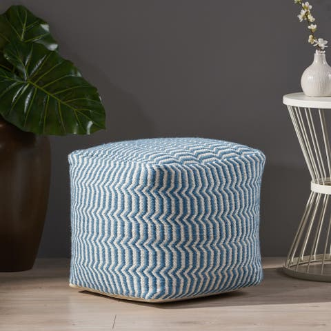 Calliope Boho Yarn Pouf by Christopher Knight Home