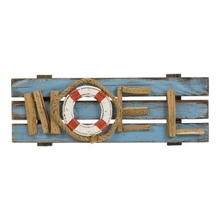 Glitzhome Christmas Solid Wood Word Wall Decor