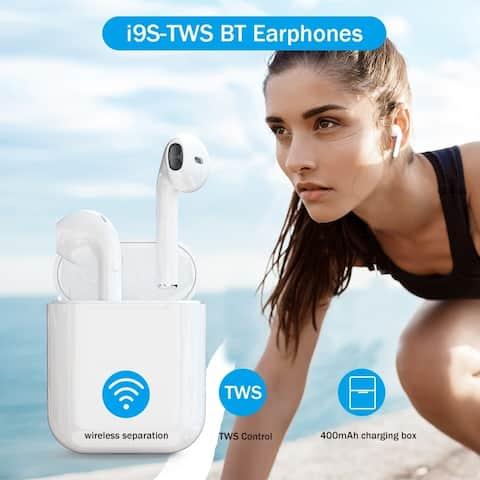 Wireless Bluetooth Earphone Bluetooth 5.0 Button Control Binaural Call HiFi Wireless Headphones with Charging Box