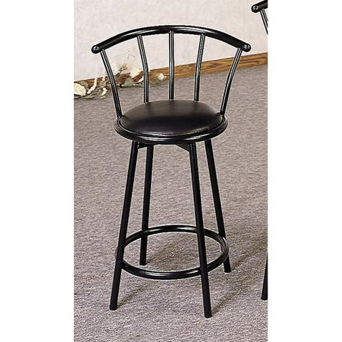 Copper Grove Garges Contemporary Black Swivel Stools (Set of 2)