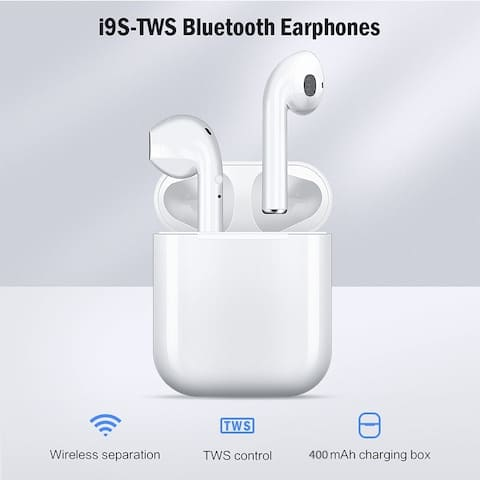 TWS Wireless Bluetooth 5.0 Earphone Binaural Call HiFi 3D Stereo Sound Wireless Headphones with Charging Box