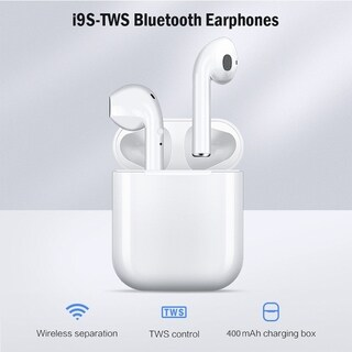 Link to TWS Wireless Bluetooth 5.0 Earphone Binaural Call HiFi 3D Stereo Sound Wireless Headphones with Charging Box Similar Items in Headphones