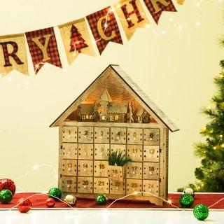 Gilzhome Christmas Wooden LED Countdown Farmhouse