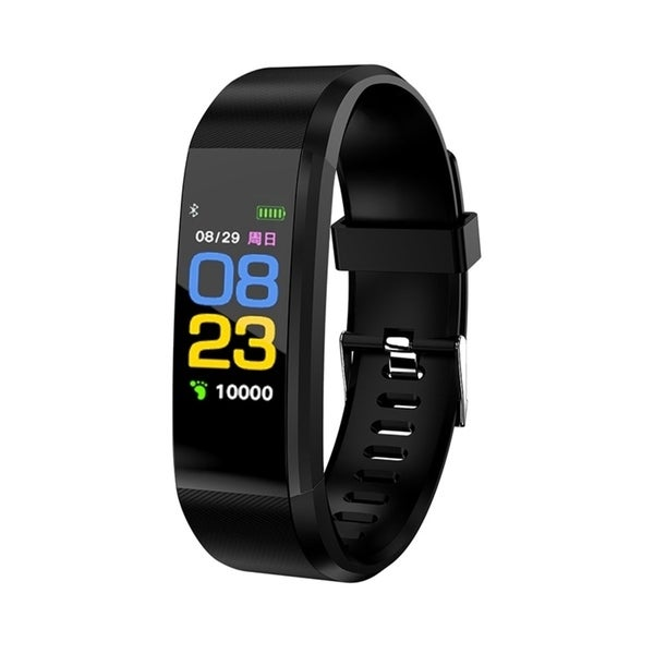 115Plus USB Bluetooth Fitness Tracker Smartband Color Screen Heart Rate Monitor Smart Bracelet Sport Wristband