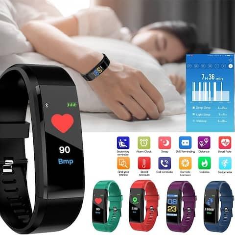 Bluetooth Fitness Tracker USB Smartband Color Screen Heart Rate Monitor Smart Bracelet Sport Wristband