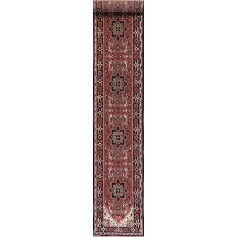 Heriz Traditional Oriental Hand Knotted Wool Indian Rug - 15'8''x 2'8''Runner