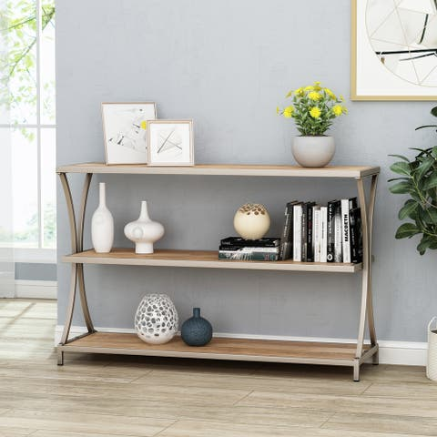 Kimball Modern Industrial Mango Wood Console Table by Christopher Knight Home