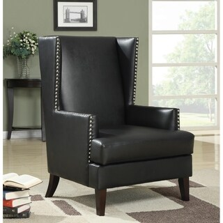 Connor Traditional Black Accent Chair