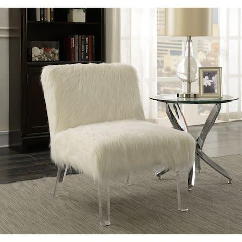 Suffolk Contemporary Faux Sheepskin Accent Chair