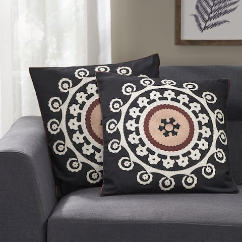 Gresham Modern Fabric Throw Pillow Cover (Set of 2) by Christopher Knight Home