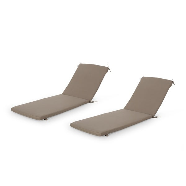 Cape Coral Outdoor Water Resistant Fabric Lounge Cushion (Set of 2) by Christopher Knight Home. Opens flyout.