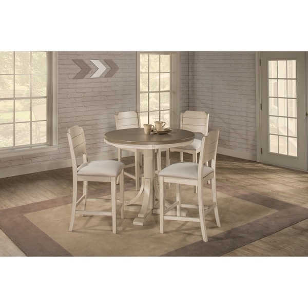 Clarion Round Counter Height Dining Set with Parson Stools