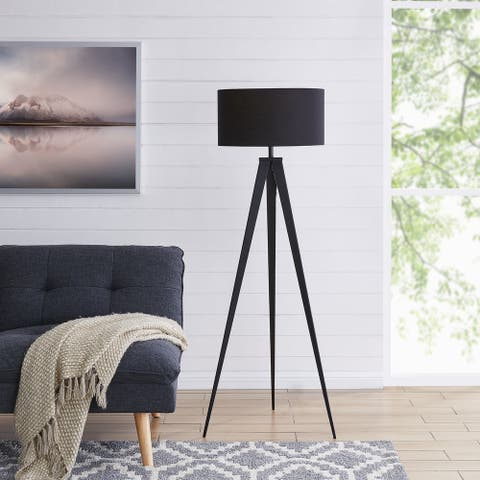 Strick & Bolton Talcott Contemporary Black Metal Floor Lamp