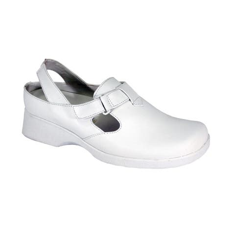 24 HOUR COMFORT Freda Wide Width Comfortable Leather Slingback Clogs