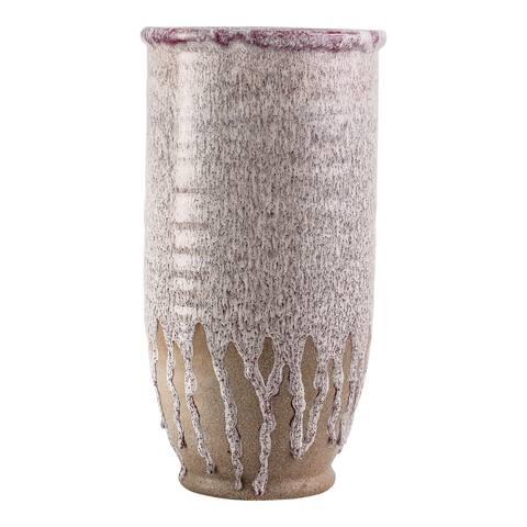 Aurelle Home Glazed Stoneware Drip Vase