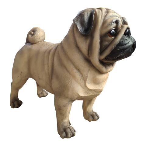 Aurelle Home Realistic Modern Pug Dog Statue