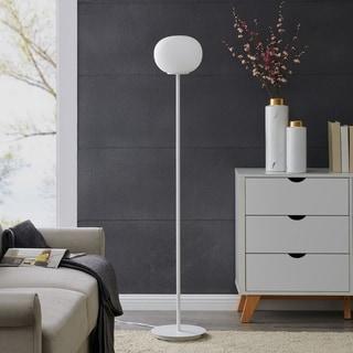 Link to Carson Carrington Faulkner Midcentury Modern White Metal Floor Lamp Similar Items in Floor Lamps