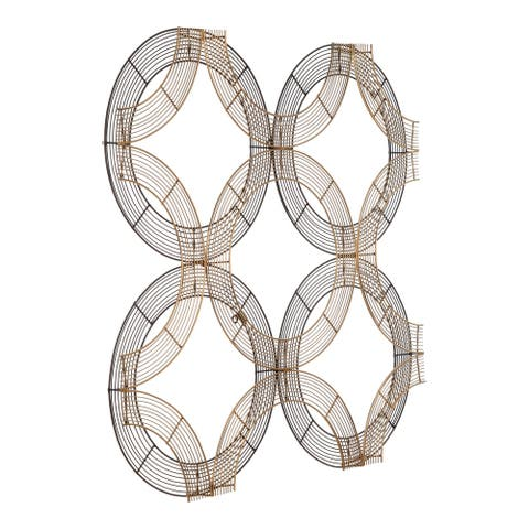 Aurelle Home Painted Metal Modern Interlocking Wall Decor