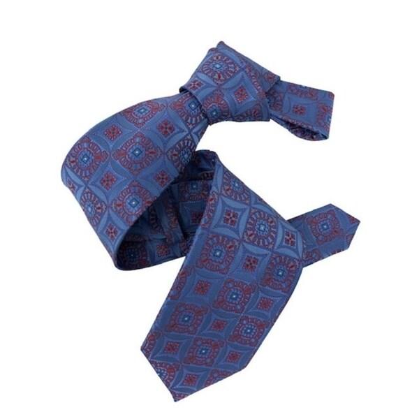 DMITRY Blue/Red Patterned Italian Silk Tie