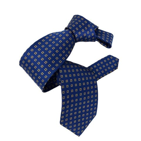 DMITRY Royal Blue Patterned Italian Silk Tie