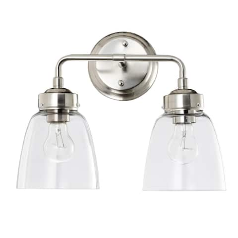 Helena 2-light Satin Nickel Bath Light