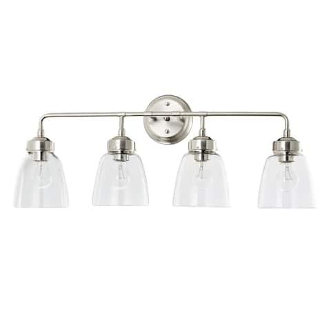 Helena 4-light Satin Nickel Bath Light