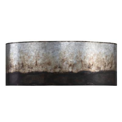 Cannery 2-light Ombre Galvanized Bath Light