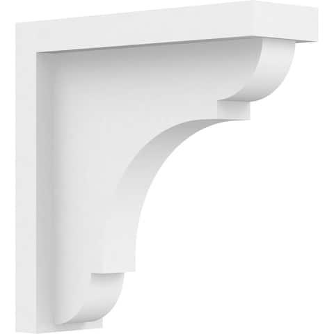 "1 1/2""W x 5""D x 5""H Standard Bryant Architectural Grade PVC Bracket"