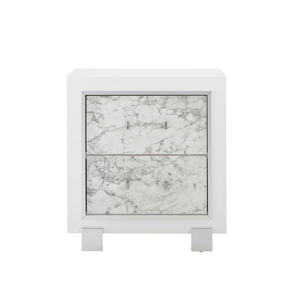 Global Furniture USA Santorini White Nightstand