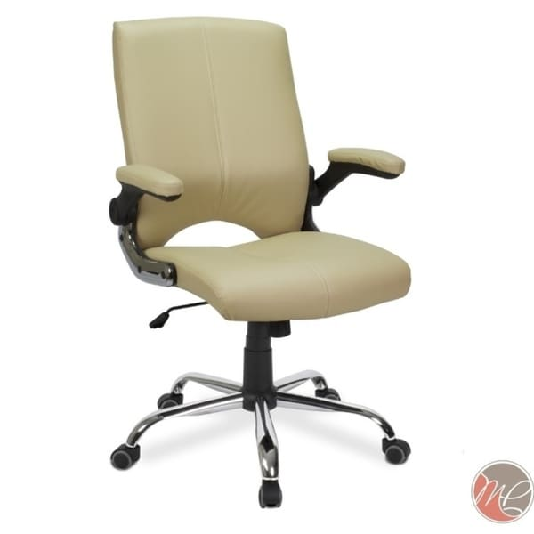 VERSA Stylish Swivel Office Chair CAPPUCCINO Desk Chair w/ Adjustable Armrest