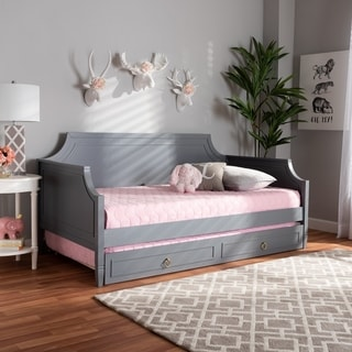 Mariana Classic and Traditional Wood Daybed with Trundle
