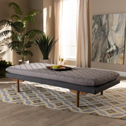 Marit Mid-Century Modern Upholstered Wood Daybed