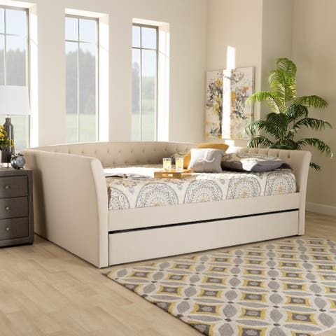 Copper Grove Costesti Modern Upholstered Daybed with Trundle