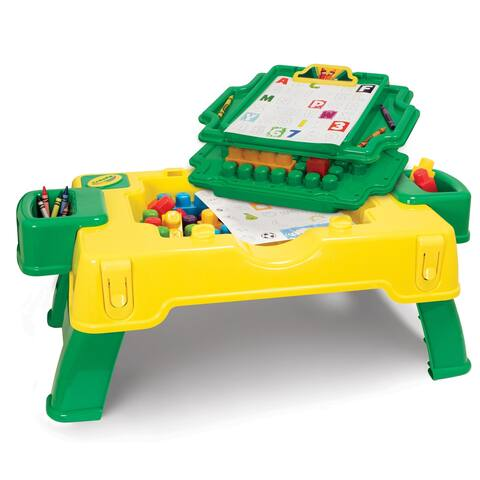 Crayola Kids@Work 2-in-1 Build & Draw Activity Table - 30 Pieces