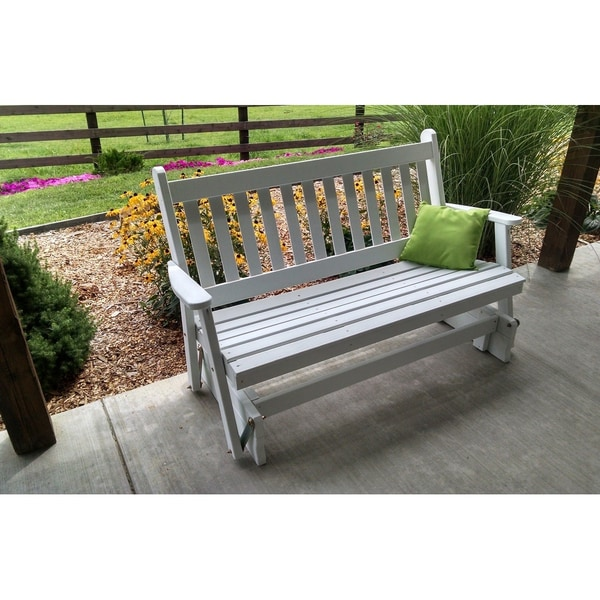 Pinelle Outdoor 5-foot Traditional Glider Bench by Havenside Home. Opens flyout.