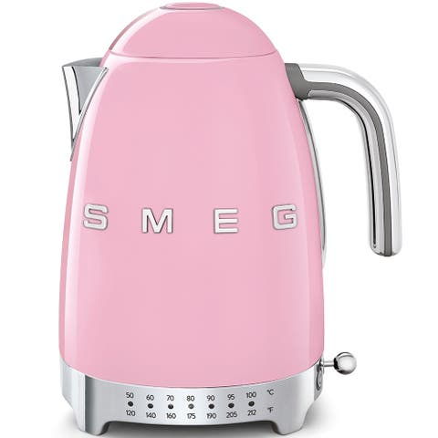 Smeg 50's Retro Style Aesthetic Variable Temperature Kettle Pink