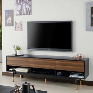 Carson Carrington Uddvide Black and Brown TV Stand