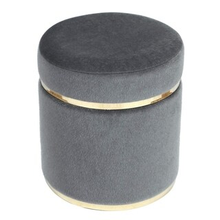 Silver Orchid Klein Small Round Ottoman