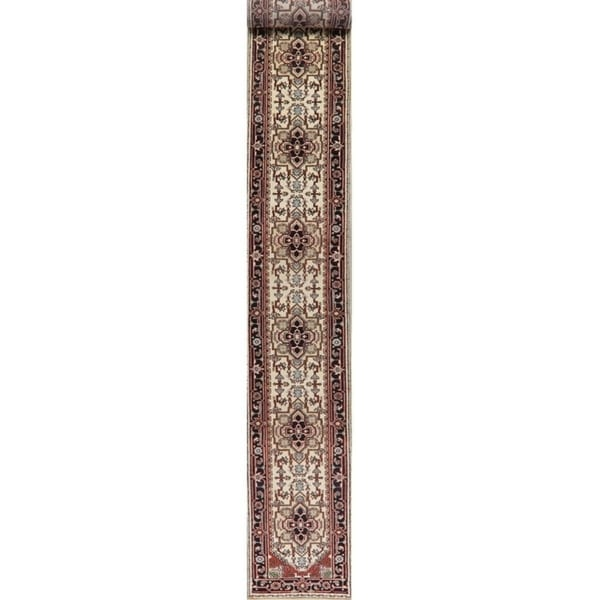 Heriz Oriental Hand Knotted Traditional Wool Indian Rug - 20'4''x 2'8''Runner