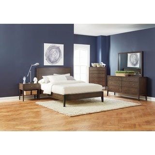 Urban Natural Ash Brown 2-piece Platform Bedroom Set with Nightstand