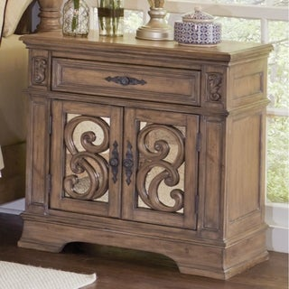 Tuscany Antique Linen 2-piece Bedroom Set with Door Nightstand