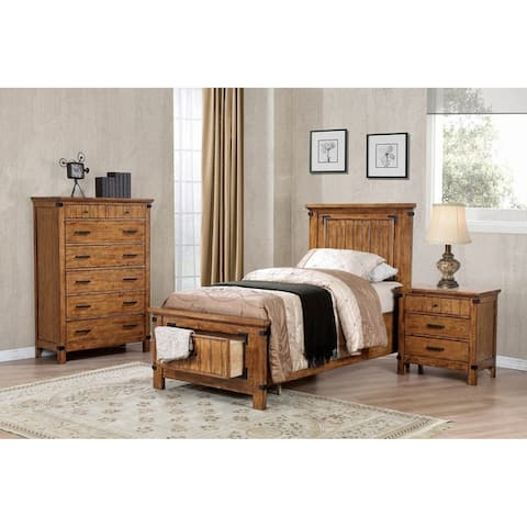 Corvallis Rustic Honey 2-piece Storage Bedroom Set with Dresser